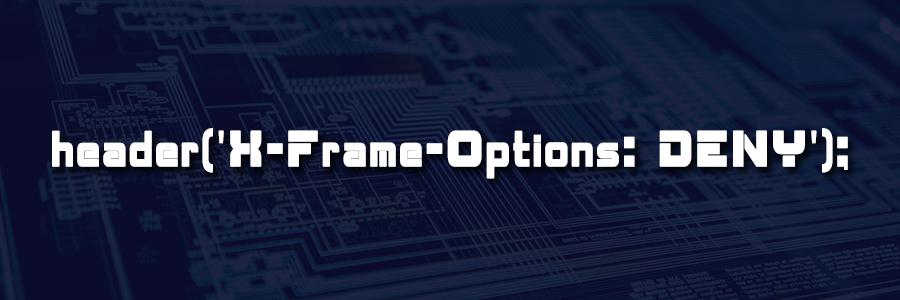 header x frame options deny
