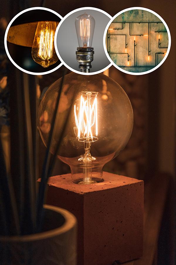 Индустриална лампа по поръчка